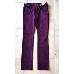 NWT GUESS skinny jeans purple stretch